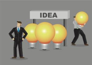 Illustration of the theft of an idea